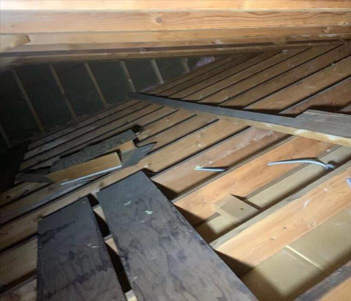 Attic post insulation removal