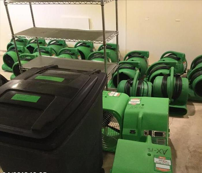 SERVPRO Equipment Used on Storm Job