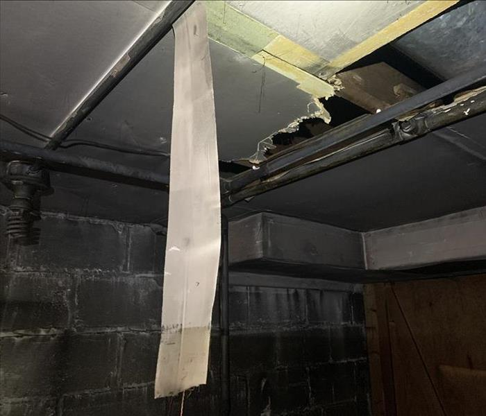 Asbestos wrap in ceiling