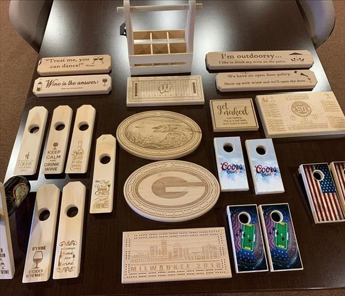 Crafted items made from wood