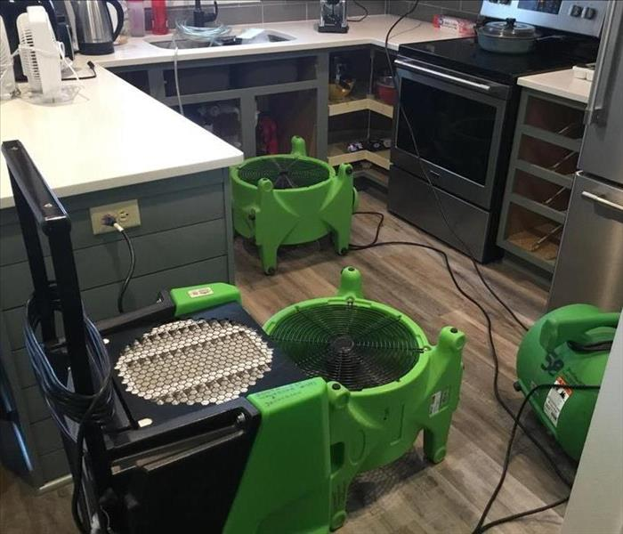 drying equipment setup in kitchen