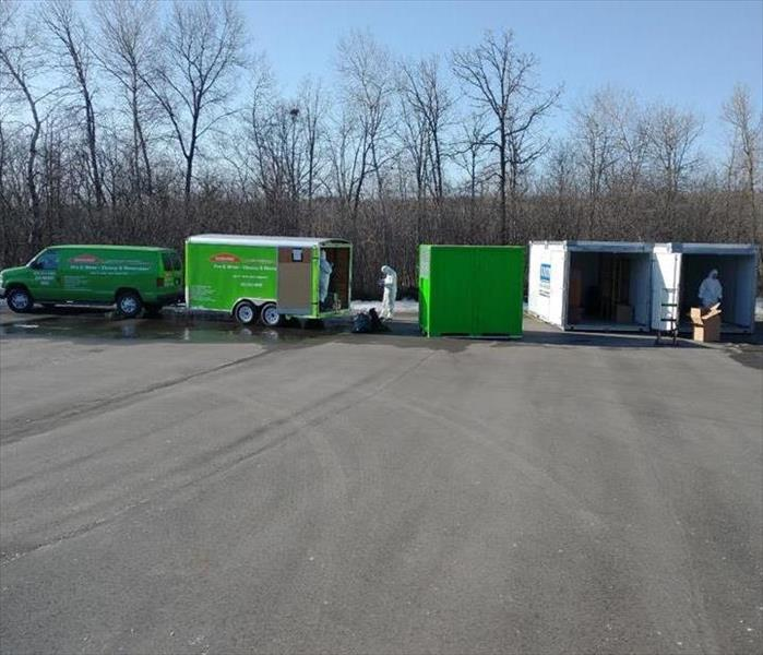 SERVPRO Crew taking inventory